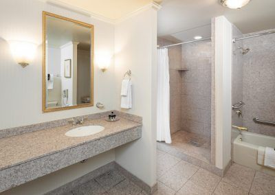 The Berkeley Hotel Accessible Guest Bathroom - Accessible Shower